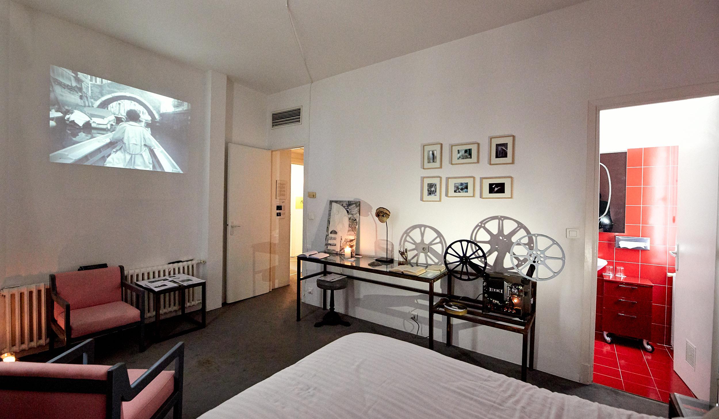 Alice Guittard, filature a la gondole, Galerie Eva Vautier, 2019,  camera camera